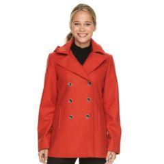 Womens Orange Peacoat Wool & Wool Blend Coats & Jackets ...
