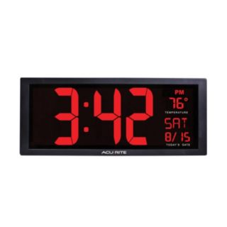 AcuRite Large LED Clock with Indoor Temperature (75127)