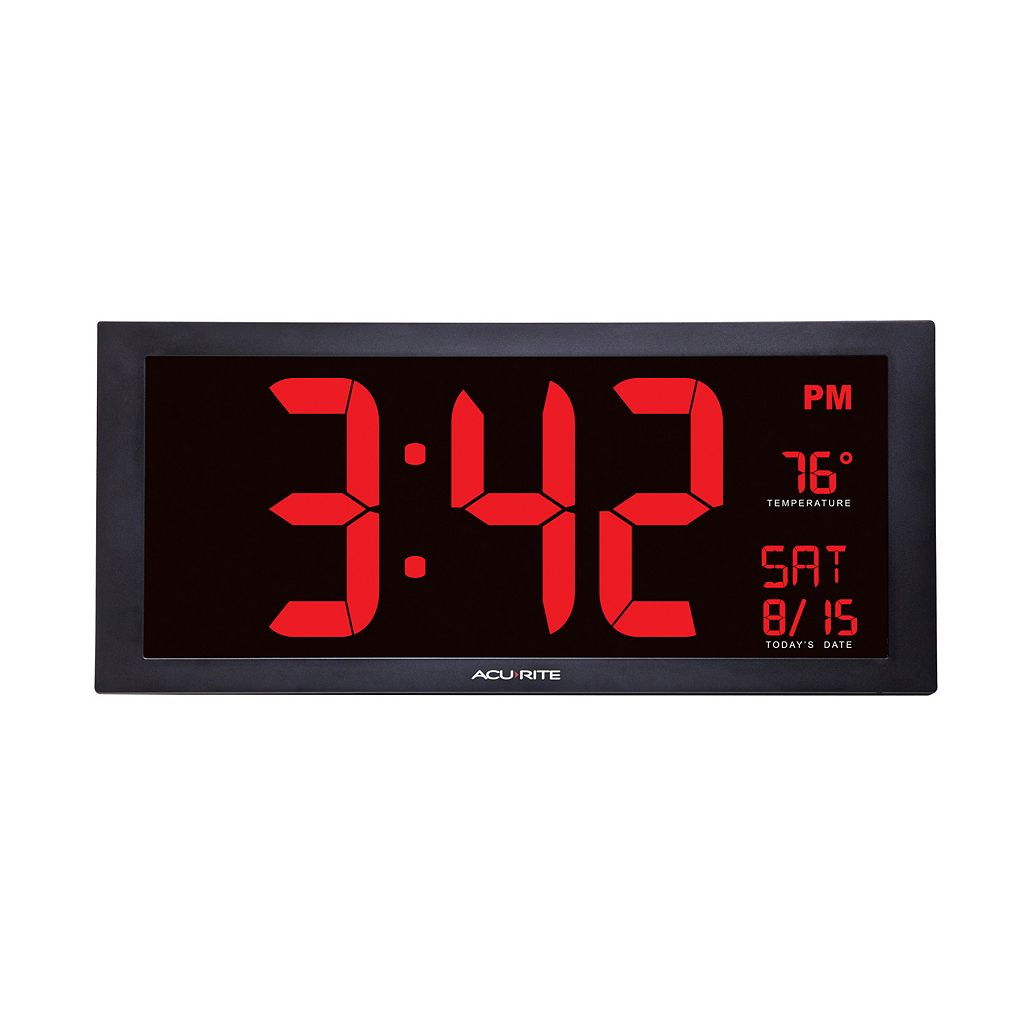 AcuRite Extra Large LED Clock with Indoor Temperature