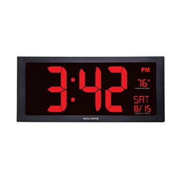 AcuRite Extra Large LED Clock with Indoor Temperature