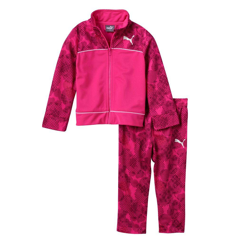 Baby Girl PUMA Dotted Jacket & Pants Set