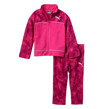Baby Girl PUMA Dotted Jacket & Pants Set