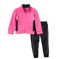 Baby Girl PUMA Colorblock Glitter Jacket & Pants Set