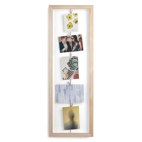 Umbra Rustic Clothespin 5-photo Collage Frame
