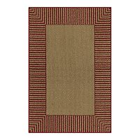 Deals on Maples Encore Striped Border Washable Rug 20-in x 34-in