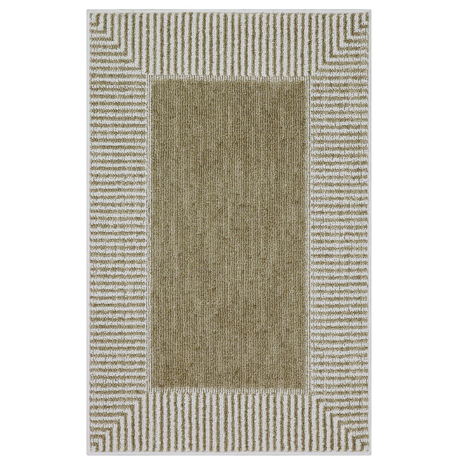 Captivating Maples Encore Striped Border Rug
