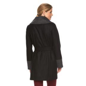Women's Braetan Large Collar Hooded Wrap Coat