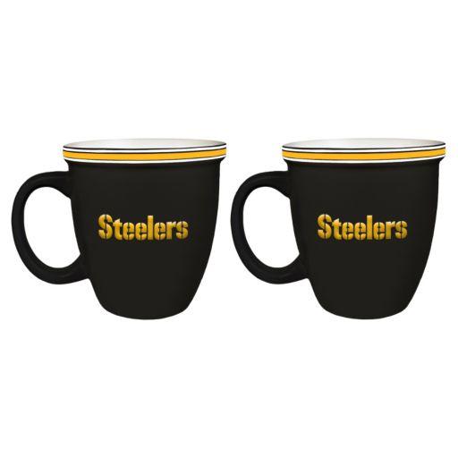 Boelter Pittsburgh Steelers Bistro Mug Set