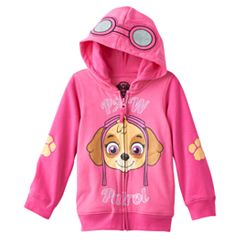Toddler Girl Paw Patrol Skye 3D Goggles Zip-Up Hoodie