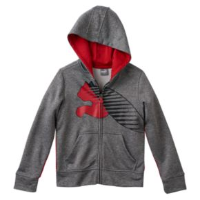 Boys 4-7 PUMA Textured Logo Space-Dyed Hoodie