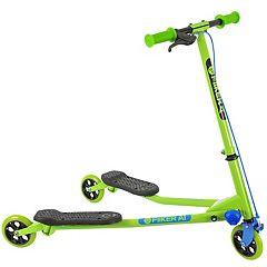 Kids Yvolution Y Fliker Air A1 Green Three-Wheeled Scooter