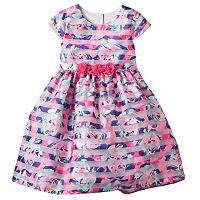 Girls 4-6x Marmellata Classics Floral Burnout Stripe Dress