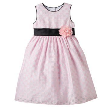 Girls 4-6x Marmellata Classics Checkered Burnout Dress
