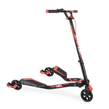 Kids Yvolution Y Fliker Lift L3 Red Three-Wheeled Scooter