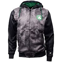 Men's Zipway Boston Celtics Denim Effect Fleece Hoodie