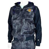 Men's Zipway Los Angeles Lakers Denim Effect Fleece Hoodie