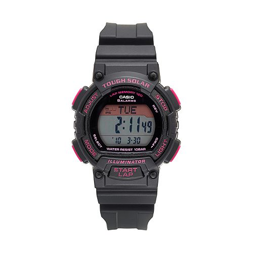 Casio Men's Tough Solar 120-Lap Digital Runners Watch - STLS300H-1CCR