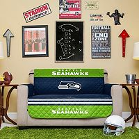 Seattle Seahawks Quilted Loveseat Cover