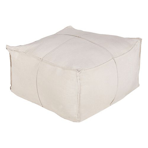 Decor 140 Ixion Light Linen Pouf