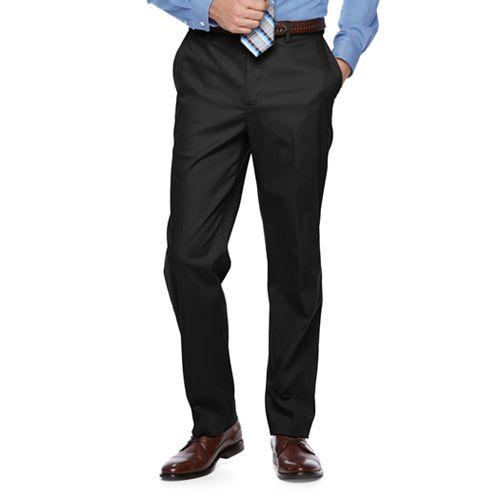 Big & Tall Croft & Barrow® Classic-Fit Flat-Front No-Iron Stretch Pants