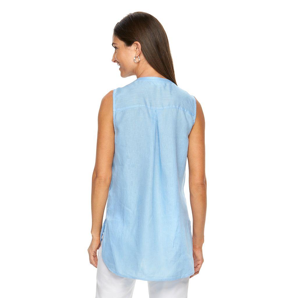 Women's Dana Buchman High-Low Linen Shirt