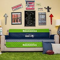 Seattle Seahawks Quilted Sofa Cover