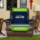 Seattle Seahawks Quilted Recliner Chair Cover