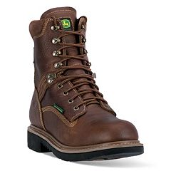 John Deere Men's Waterproof Steel-Toe Boots