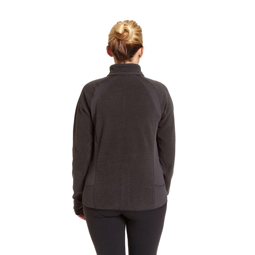 Plus Size Champion Raglan Sleeve Microfleece Jacket