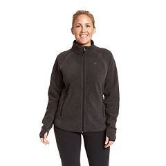 Plus Size Champion Raglan Sleeve Microfleece Jacket