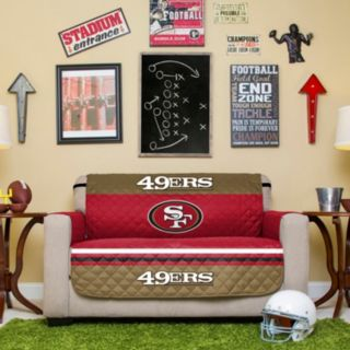 San Francisco 49ers Quilted Loveseat Cover