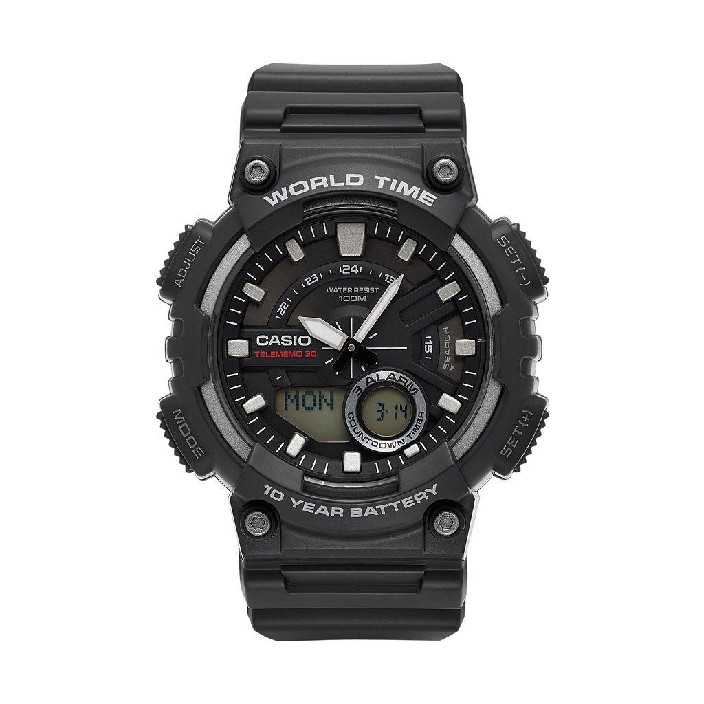 Casio Men's Telememo Analog-Digital Watch - AEQ110W-1AVCF