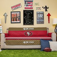 San Francisco 49ers Quilted Sofa Cover