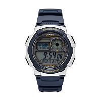 Casio Men's Digital Chronograph World Time Watch - AE1000W-2AVCF