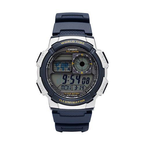 Casio Men's Digital Chronograph World Time Watch - AE1000W-2AVCF