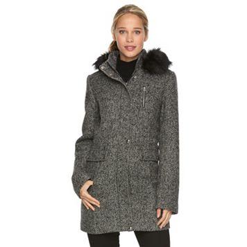 Women's Braetan Hooded Wool Blend Anorak Jacket