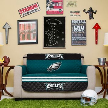 Philadelphia Eagles Quilted Loveseat Cover