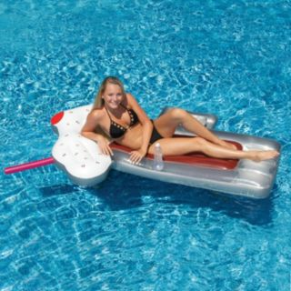 Swimline 74-Inch Root Beer Mug Inflatable Pool Float with Mini Cooler