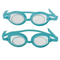 Kids Blue Wave 2-Pair 3D Action Swim Goggles