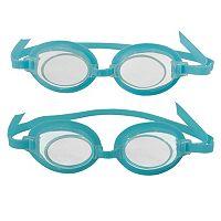 Kids Blue Wave 2-Pair 3D Action Swim Goggles