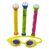 Kids Blue Wave 3D Action LED Dive Sticks & Goggles Set