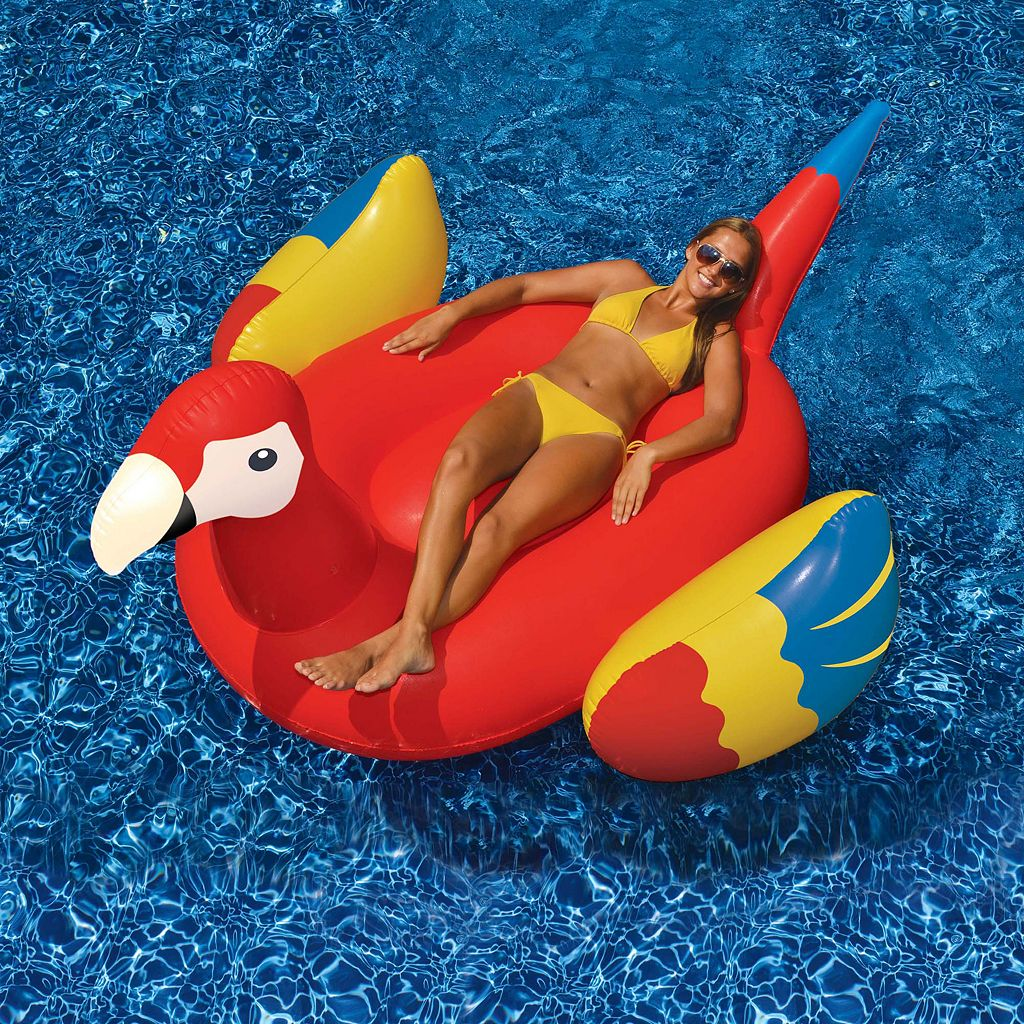 Swimline 93-Inch Giant Parrot Inflatable Ride-On Pool Float