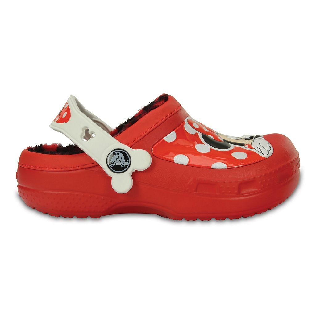 Crocs Disney Minnie Mouse Lined Girls' Clogs