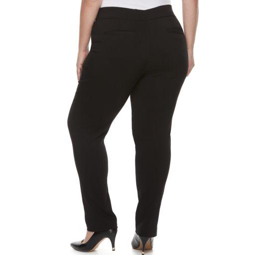 Plus Size Apt. 9® Brynn Millennium Pinstripe Pull-On Dress Pants