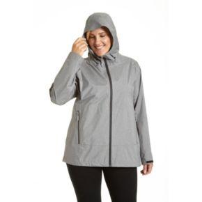Plus Size Champion Hooded Rain Jacket