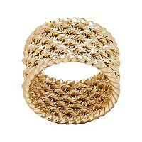 Everlasting Gold 10k Gold Rope Ring