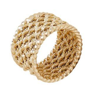 Everlasting Gold 10k Gold Rope Ring