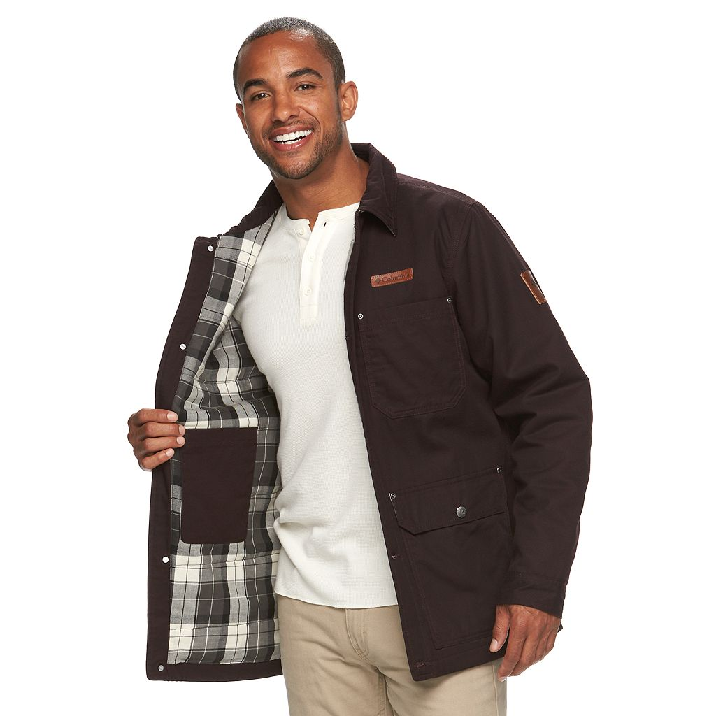 Men's Columbia Beacon Stone Omni-Shield Flannel Coat
