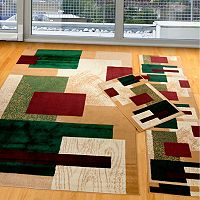 United Weavers Manhattan Geometric 3 pc Rug Set