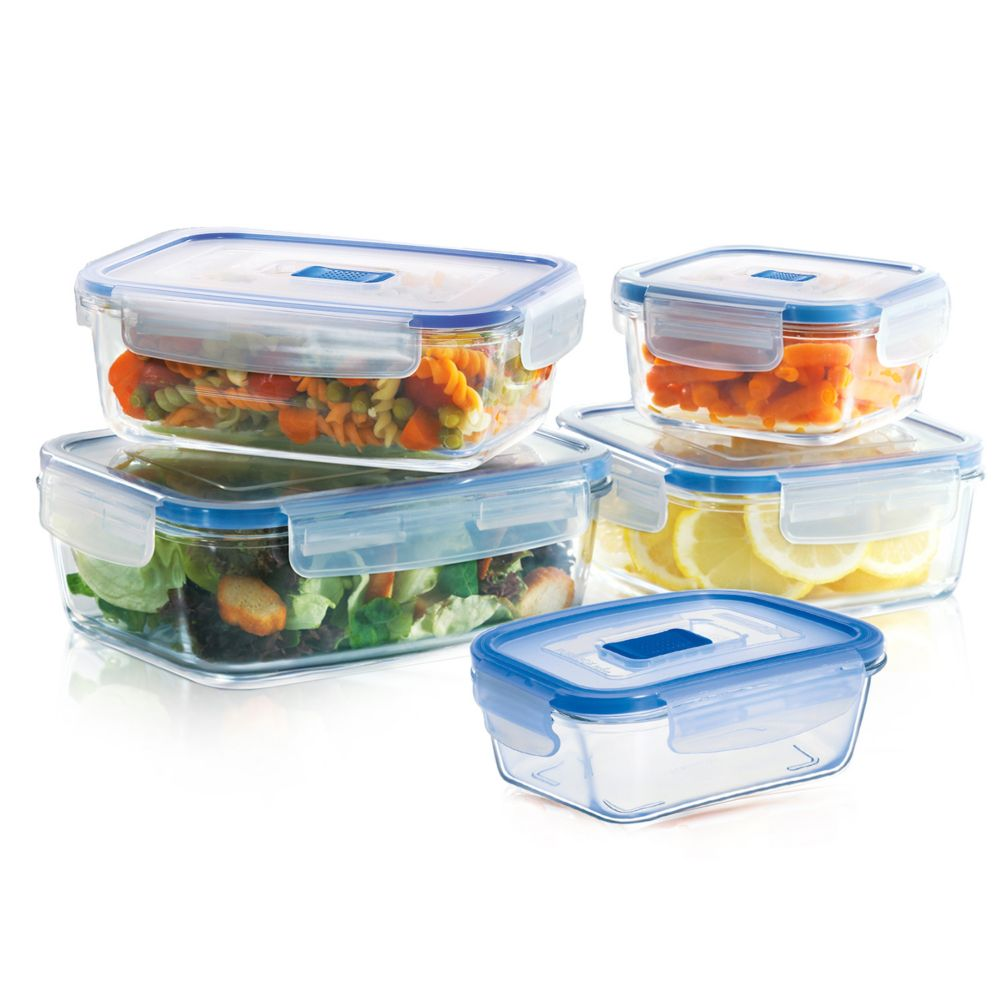 Luminarc Pure Box Active 10 pc Glass Food Storage Set